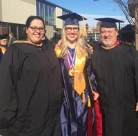 Picture of Sarah and Faculty